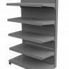 Regał sklepowy metalowy MAGO szczytowy H-170 cm, L-80 cm, G-37 cm, 4×37 cm
